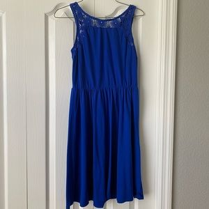 Blue mini casual dress